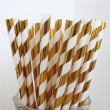 Whole sale new design stamp gold paper straw