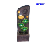 Home & Garden Decoration Sandstone LED Lighting Music Water Fountain