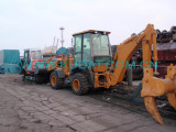 1 8t Excavator A Backhoe Loader Are Ready For Shipping