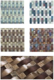 Crystal +stone mosaic tile