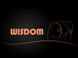 Wisdom logo in blue
