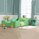 PU leather kids bed/ KD packing