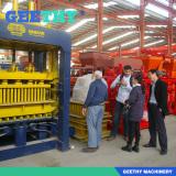 geethy-customers visit block making machine