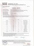 SGS CERTIFICATE on UREA PRILLED (0.85--2.80MM,90%Min)