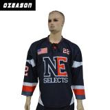 custom sublimation printing ice hockey jersey