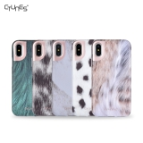IMD Animal Skin Design TPU Soft Rubber Silicone Cover Case for Apple Iphonex