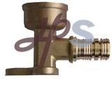 Brass Pex Female Wallplate Elbow