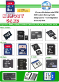 Products Catalogue-Memory Cards