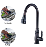 Flg Pull-Down Orb Sprayer Kitchen Sink Faucets