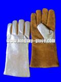 Golden Cow Split Leather Aluminum Foil Welding Glove