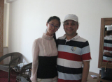 Photo with customer