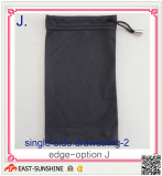 microfiber eyewear bag with sinlge-side drawstring
