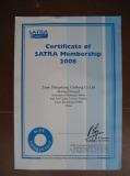 Certificate of SATRA