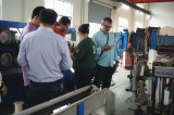 Spanish customer visit FONGMING CABLE factory
