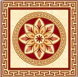 Flower Pattern Carpet Tile Polished Crystal Ceramic Floor Tile 1200X1200mm (BMP31)