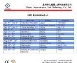 2013 Exhibition List