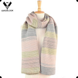 Hot Style Multicolor Stripe Knitting Winter Trendy Scarf