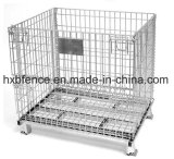 Foldable Metal Warehouse Cargo Stackable Storage Cage