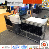 A2 LED UV flat-bed printers converted from 4880c in exhibition