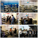 Sani booth mainly show CUPC sink in Canton Fair