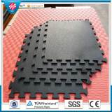Interlocking gym Colorful rubber tiles