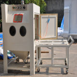 sandblasting machine and powder coating machine exported into Germany