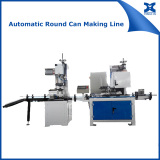 Automatic paint chemical can making production line