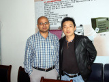 General Manager Chen and the client from India