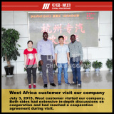 West Africa Customer Visit Our Company
