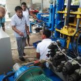 QT4-15D block machine in Brazil