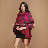 Acrylic Women Warm Checked Knitted Shawl