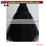 Black 3-Layers Tulle Hoopless Wedding Dress Underskirt Petticoat