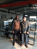 customer from Africa fro Galvanized steel roofing sheets