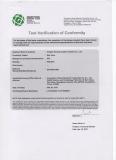 BSEN 13828-2003 certificate