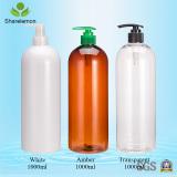 1000ml New Arrival High Fashion White Cylinder Plastic Huge Bottle