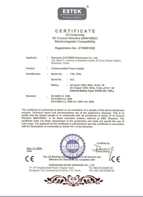 Online UPS 3KVA/2100W CE