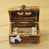 Rustic ring bearer, Wooden ring holder with heart