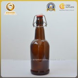 16oz glass beer bottle