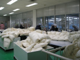 assembly line of pillow
