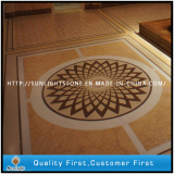 waterjet medallion and marble floor tiles for Moscow Holiday Inn