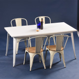 Hot sale Industrial style iron table and chair set (SP-CT673)