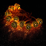 Iron Hollow Ball Shaped LED Decorative Light (26-1F1603)