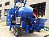 Electric concrete mixer pump (30m3/h) was shipped to Congo in 2017