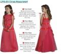 Measure guide chart For Flower Girl Dress Junior Bridesmaid Dresses