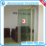 Emergency Breakout automatic door frame