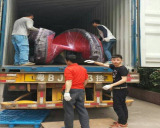 Loading 20 GP container outdoor playground for Jordan customer in March 2016