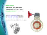 Plastic FRPP Ppg Butterfly Valve Series DIN ANSI JIS Cns Standards