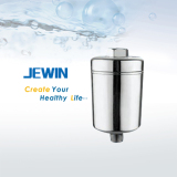 with activated carbon KDF chromed shower filter