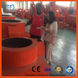 NG client inspect on small organic fertilizer production machine