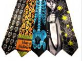 Assorted Halooween Design Silk Ties (PM023)